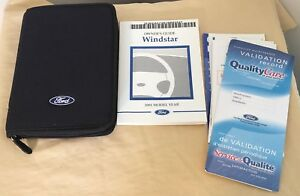 01 ford windstar owners manual