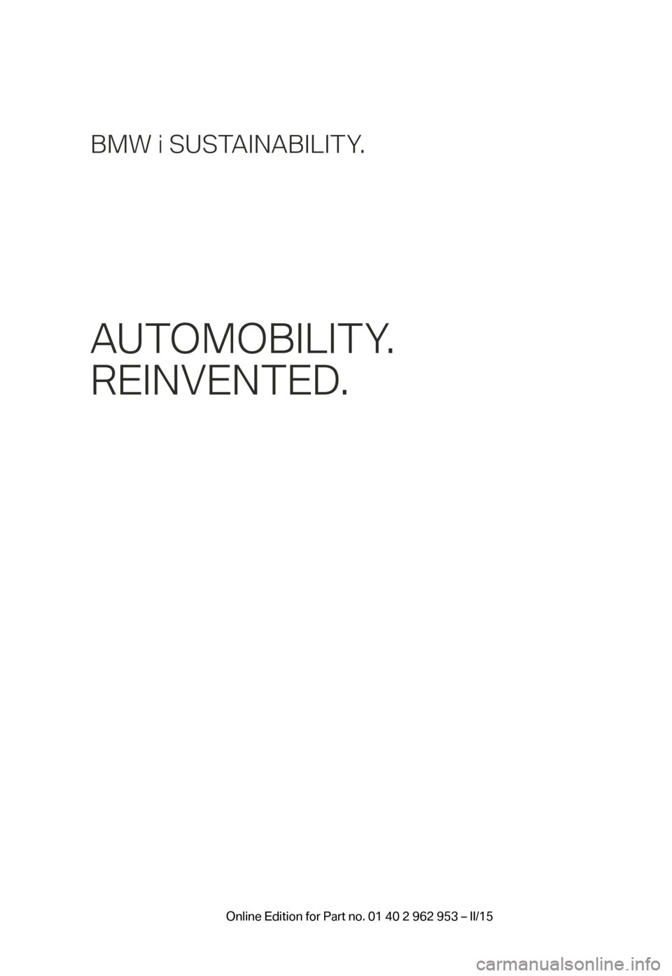 2014 bmw i3 owners manual