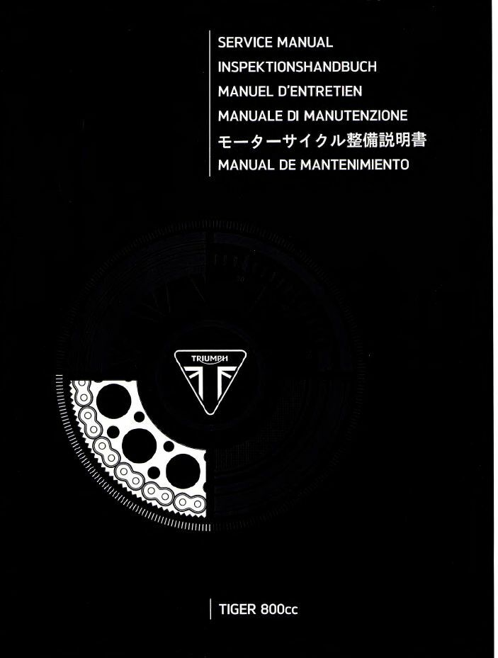 2017 triumph tiger 800 service manual
