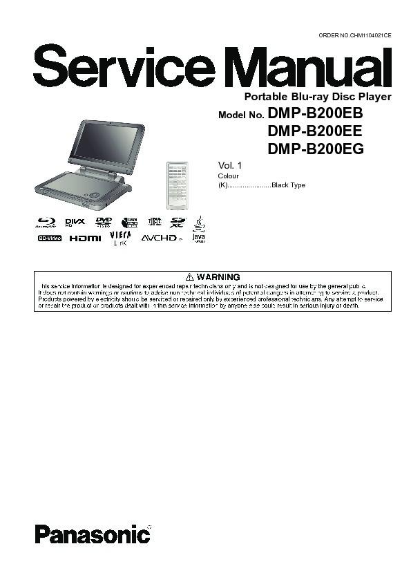 panasonic dmp bd 55 user manual