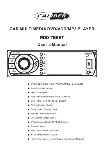 car multimedia player user manual