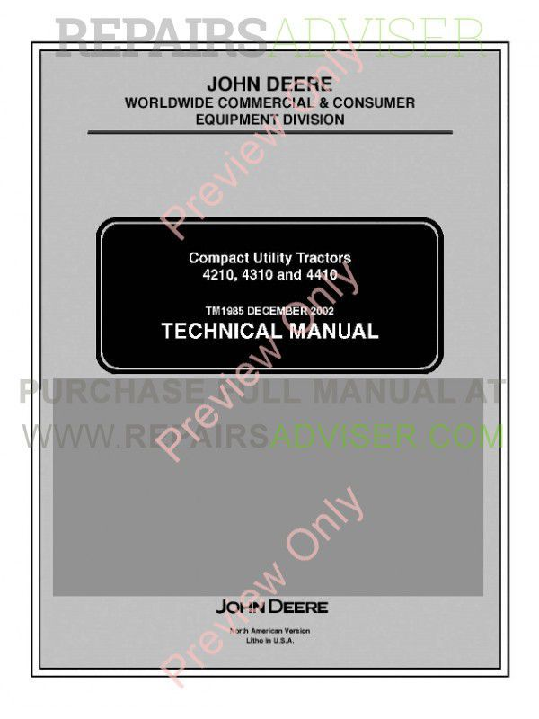 john deere 4310 owners manual
