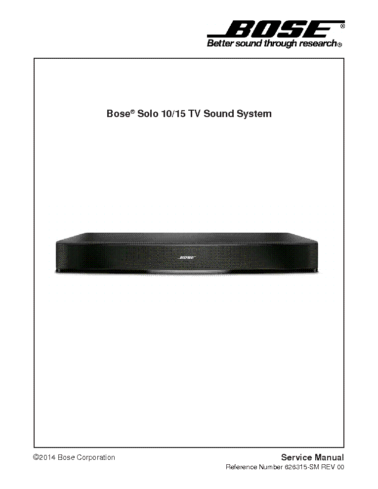 bose sound bar owners manual