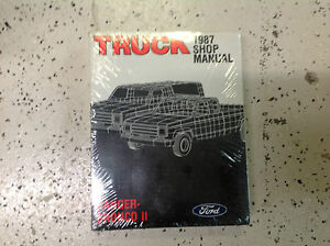 1987 ford bronco 2 factory service manual