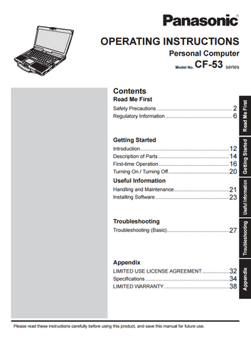 panasonic cf 50 service manual