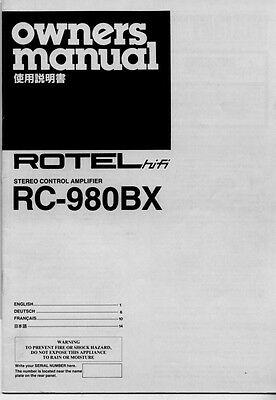 rotel rc 1070 service manual