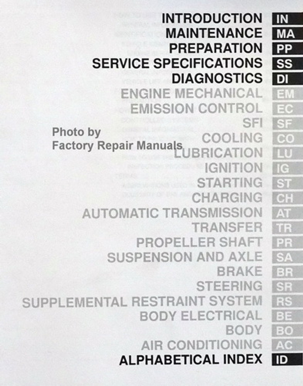 1997 toyota land cruiser factory service manual