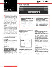 crown xls 2500 service manual