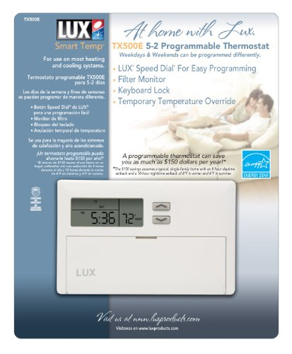 lux 500 thermostat user manual
