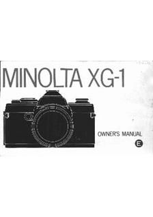 minolta xg 1 user manual