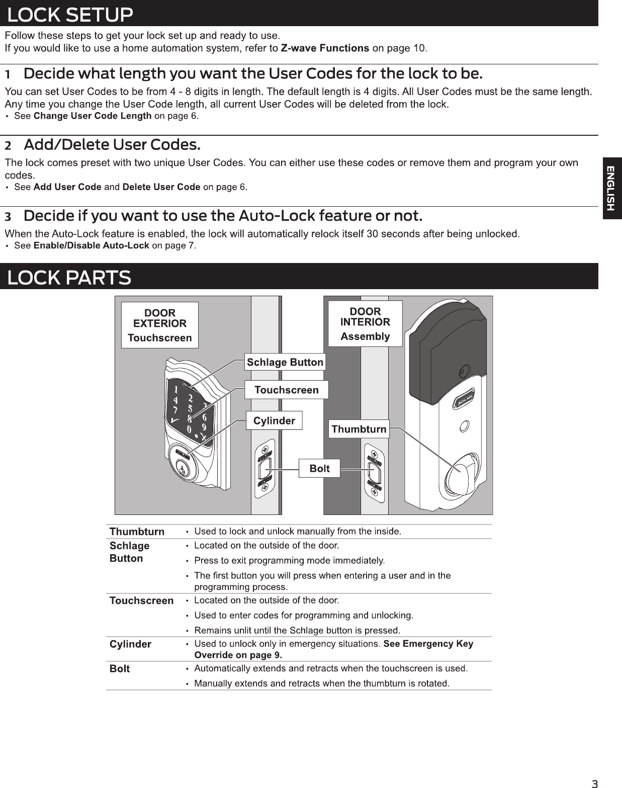 schlage handkey ii user manual